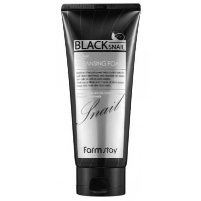 Пенка для лица с муцином чёрной улитки FarmStay Black Snail Deep Cleansing Foam, 180 мл