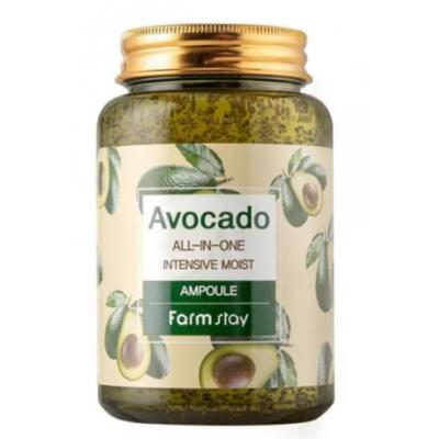 Ампульная сыворотка с экстрактом авокадо FarmStay Avocado All-In-One Intensive Moist Ampoule, 250 ml