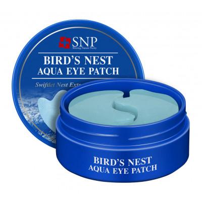 Омолаживающие гидрогелевые патчи с ласточкиным гнездом SNP Bird's Nest Aqua Eye Patch, 60 шт