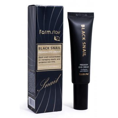 Farmstay Крем для кожи вокруг глаз с муцином черной улитки Black Snail Premium Eye Cream, 50 мл