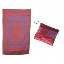 Коврик для намаза дорожный в сумочке (красный)