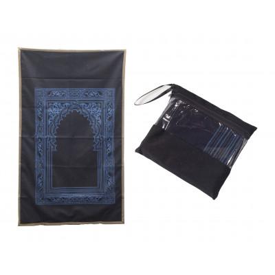 Коврик для намаза дорожный в сумочке (черный)