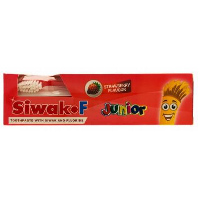 Зубная Паста Siwak-F JUNIOR + щетка для детей со вкусом клубники, 50 г