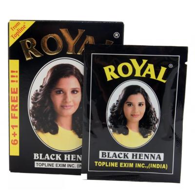 Хна краска для волос Royal Henna черная, 6 пак