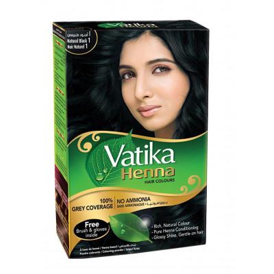 Хна для волос Vatika Natural Black черная (60 гр)