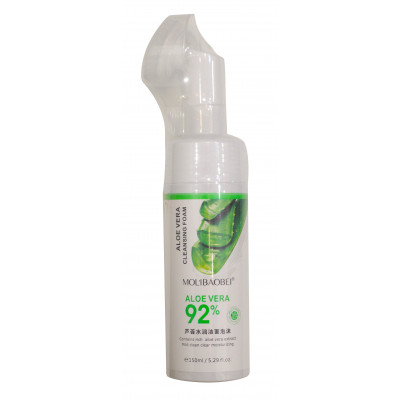 "Мусс-пенка Mol'ibaobei ""Aloe vera cleansing foam 92%"" (со щеткой) 150 ml"