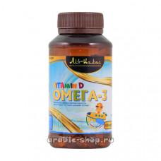 Капсулы «Омега 3 десткий + Витамин D» Fawaid (Аль Ихлас) 150 кап.