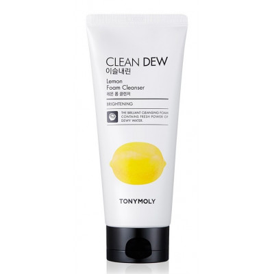 Пенка для умывания c экстрактом лимона — TONYMOLY «Clean Dew Lemon Foam Cleanser» (180мл)