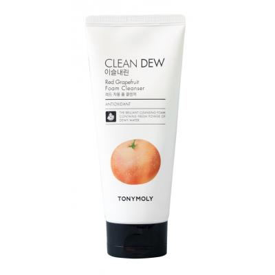 Пенка для умывания с экстрактом грейпфрута TONYMOLY «Clean Dew Red Grape Fruit Foam Cleanser» (180мл)